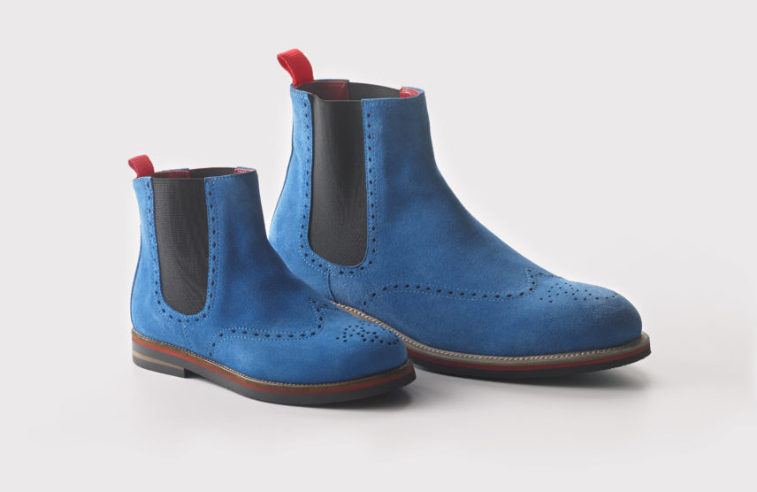 Henry pair blue suede